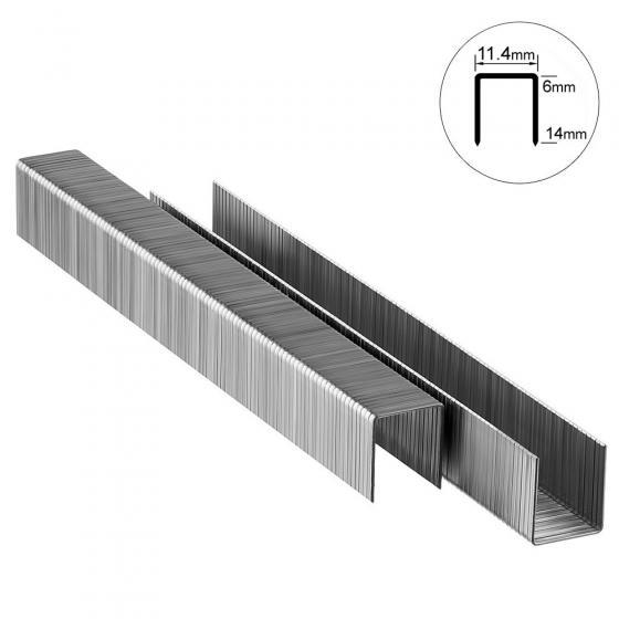 Скоба тип 53-10 мм для мебельного степлера Matrix Master закаленные, 1000 шт